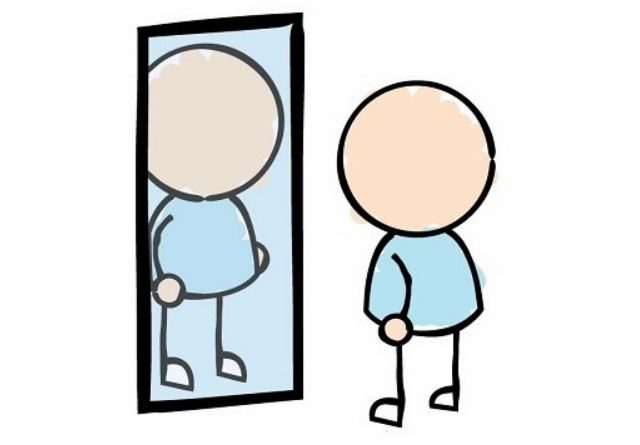 The a self jessica. Mirror clipart personal reflection