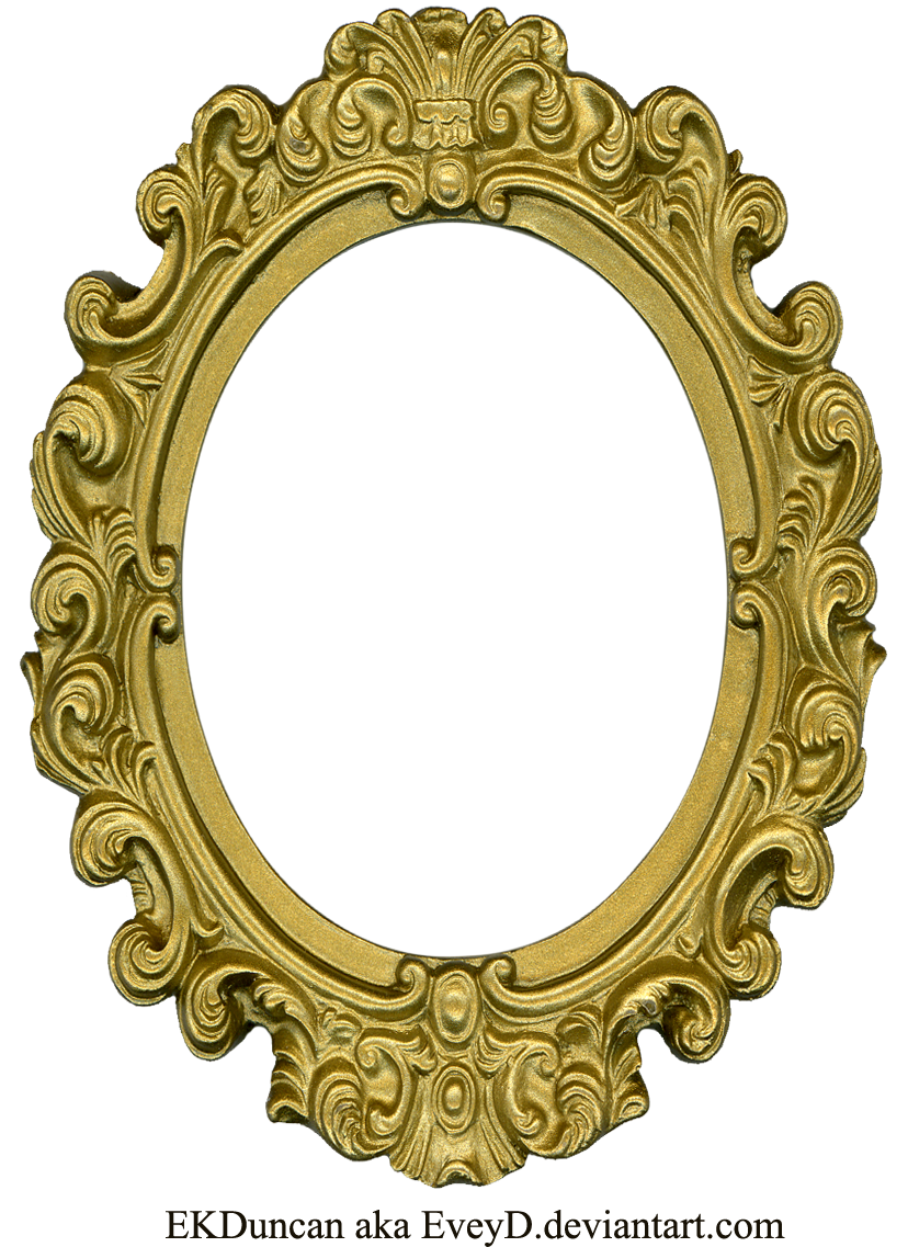 Oval gold frame png. Mirror drawing at getdrawings