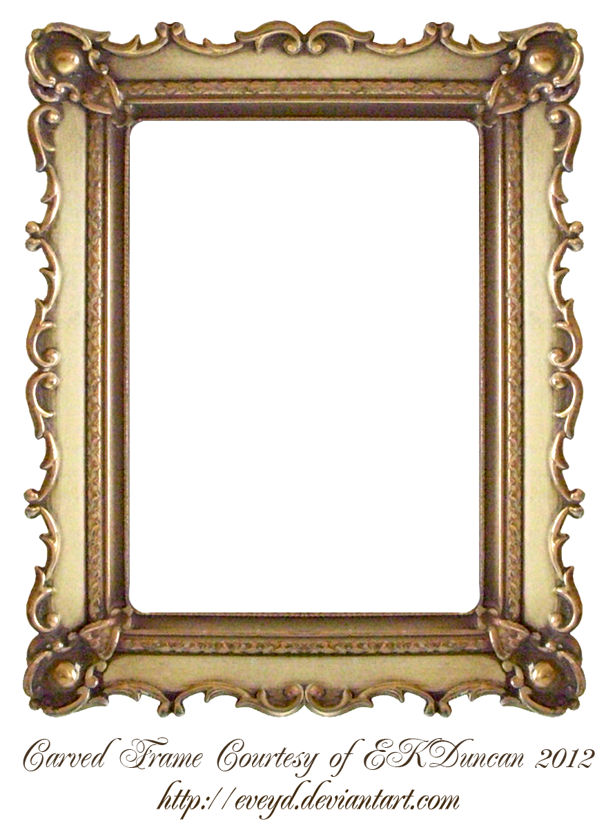 Mirror clipart rectangle mirror. Carved gold frame by