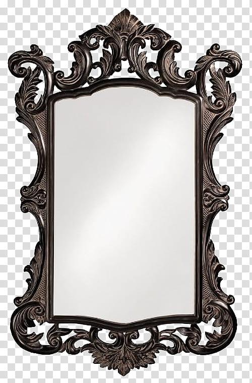 Oculus with brown steel. Mirror clipart rectangular mirror