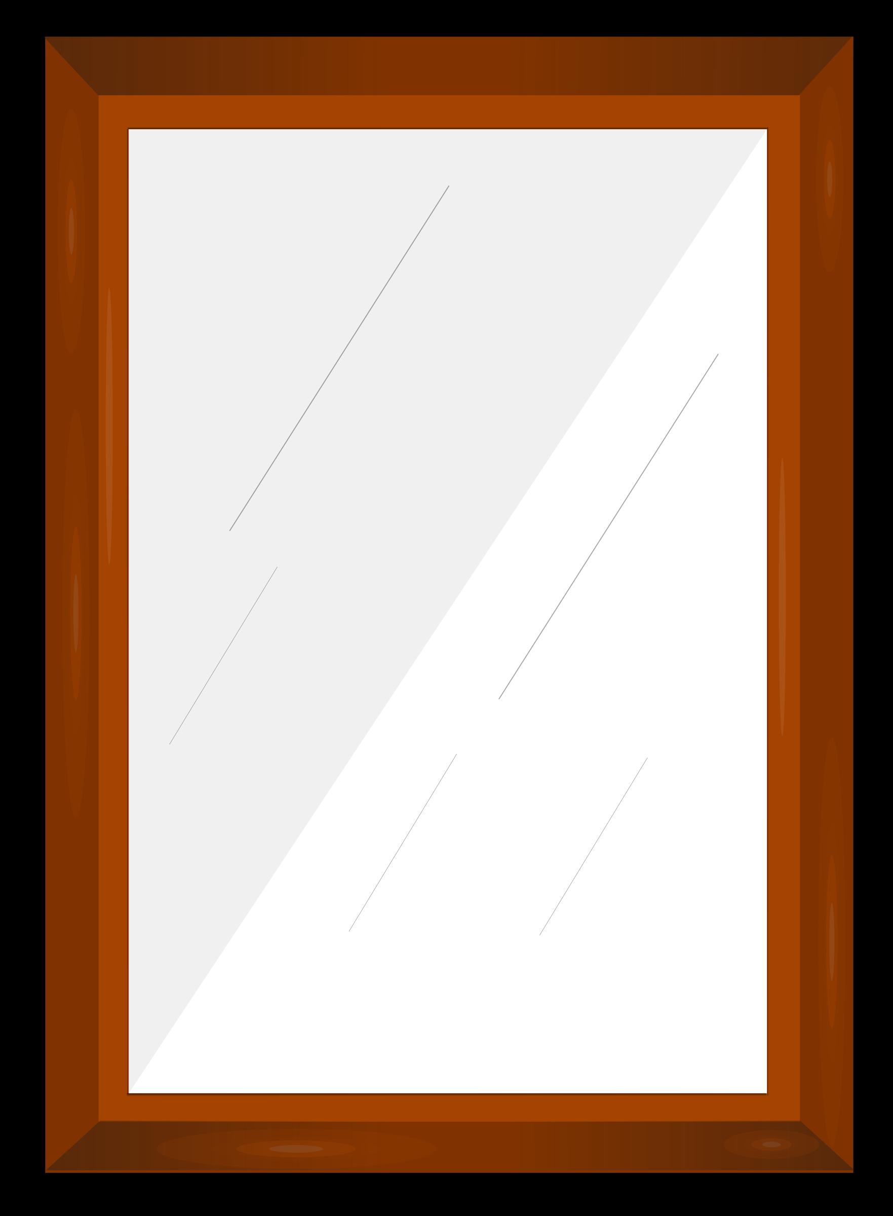 Frame big image png. Mirror clipart rectangular mirror