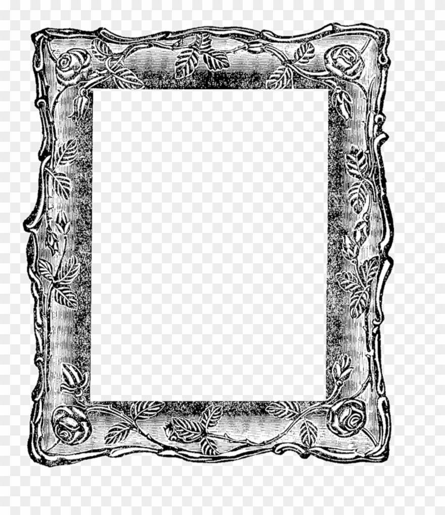Vintage frame pinclipart . Mirror clipart square mirror