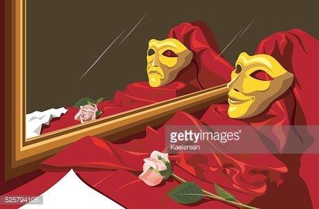 Theater masks and premium. Mirror clipart theatre