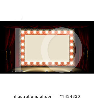 Mirror clipart theatre. Stage illustration by atstockillustration