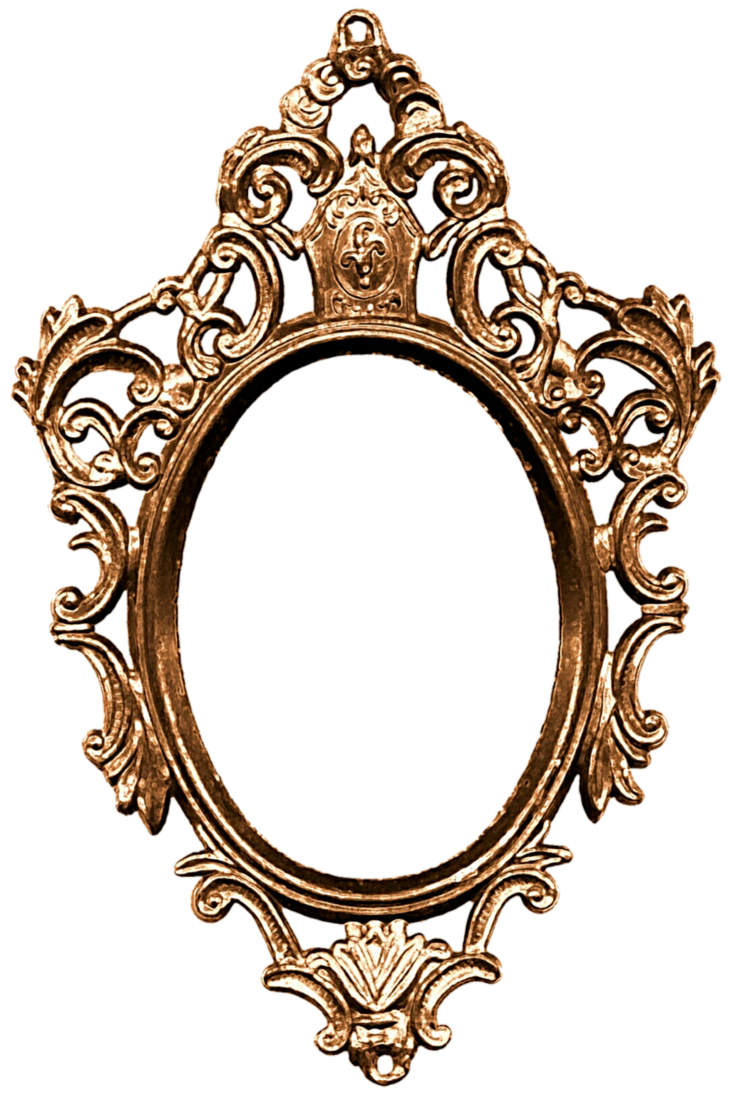 Mirror frame png. On the wall by
