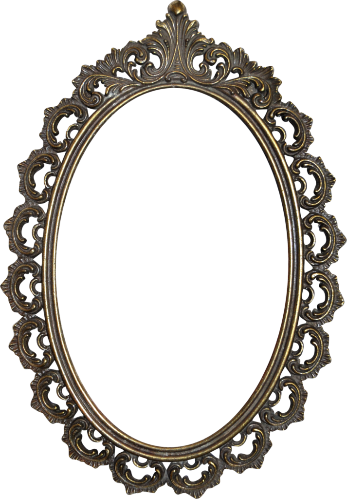 Mirror frame png.  for free download