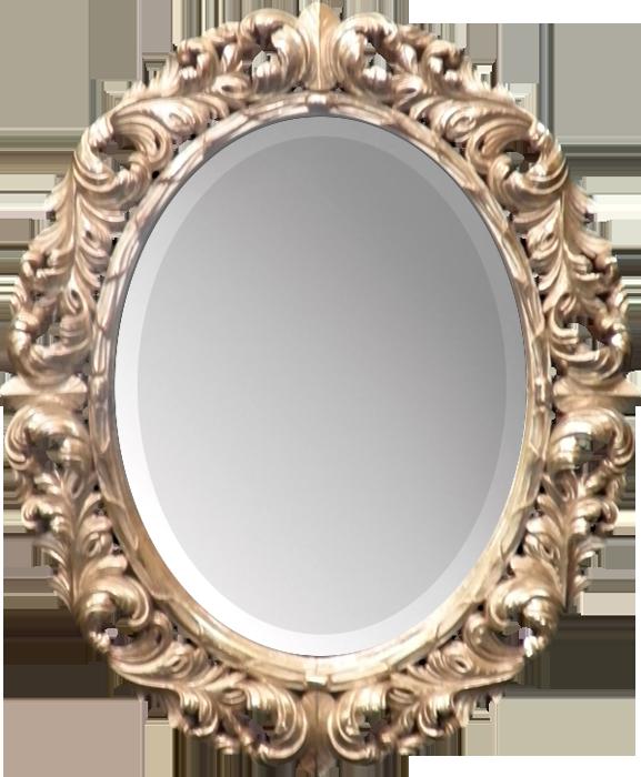 Mirror frame png. Golden download transparent image