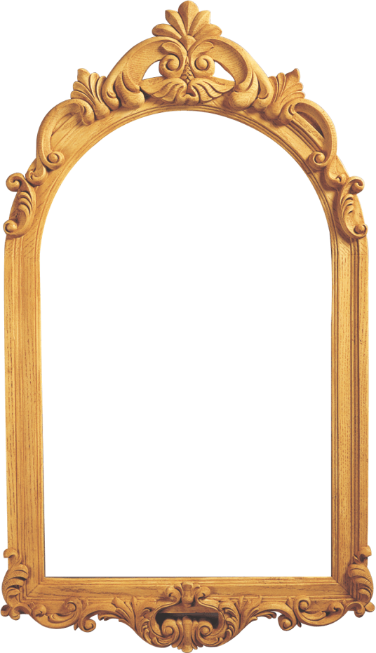 Assimilated wood frames polyurethane. Mirror frame png