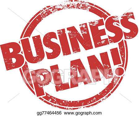 Drawing business plan red. Mission clipart