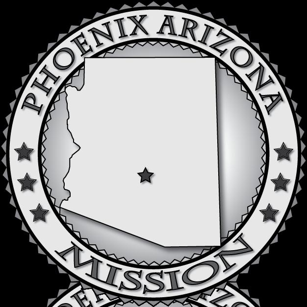 Arizona lds mission medallions. Phoenix clipart circle