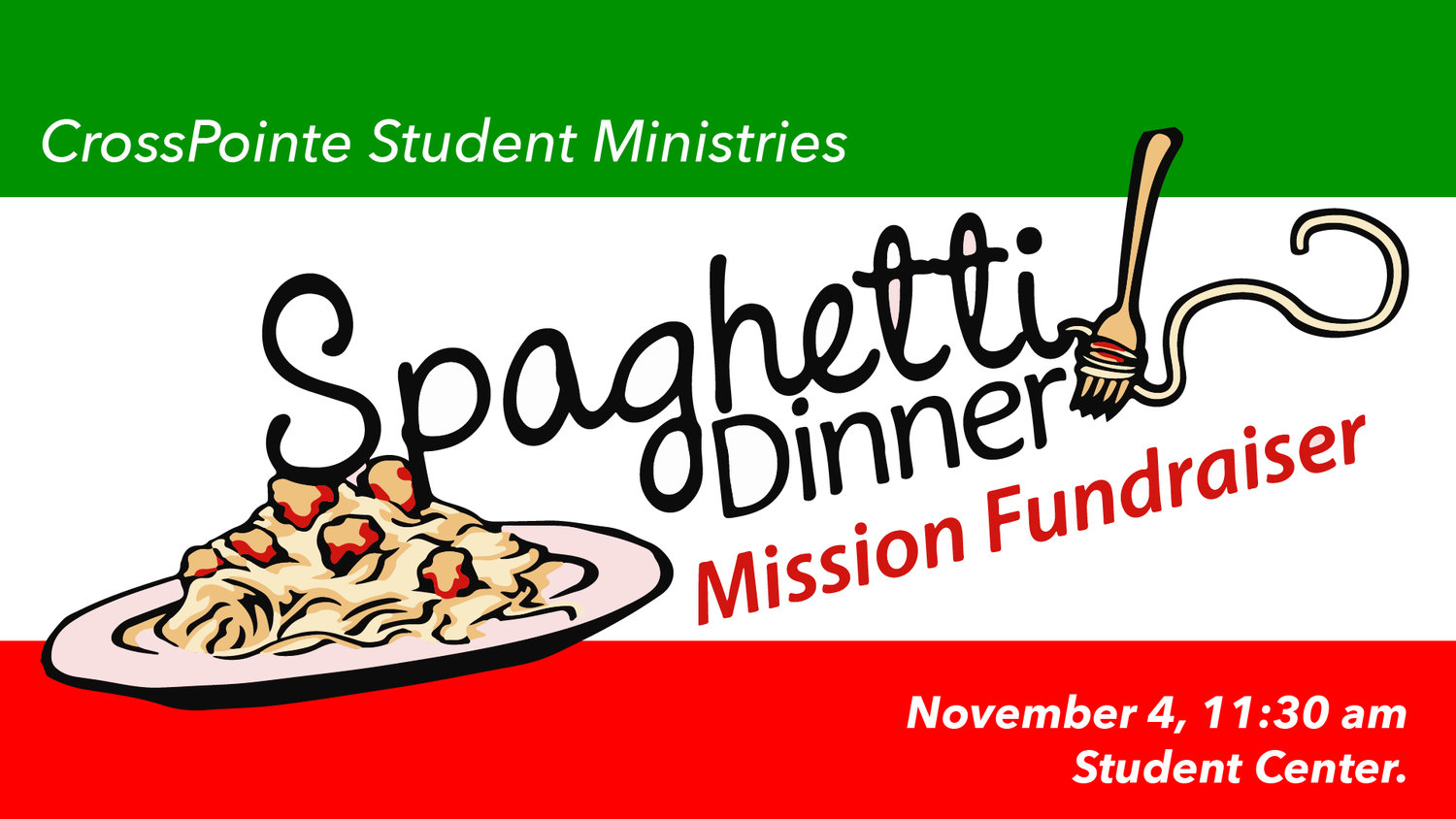 Missions clipart church fundraising. Spaghetti dinner fundraiser crosspointe