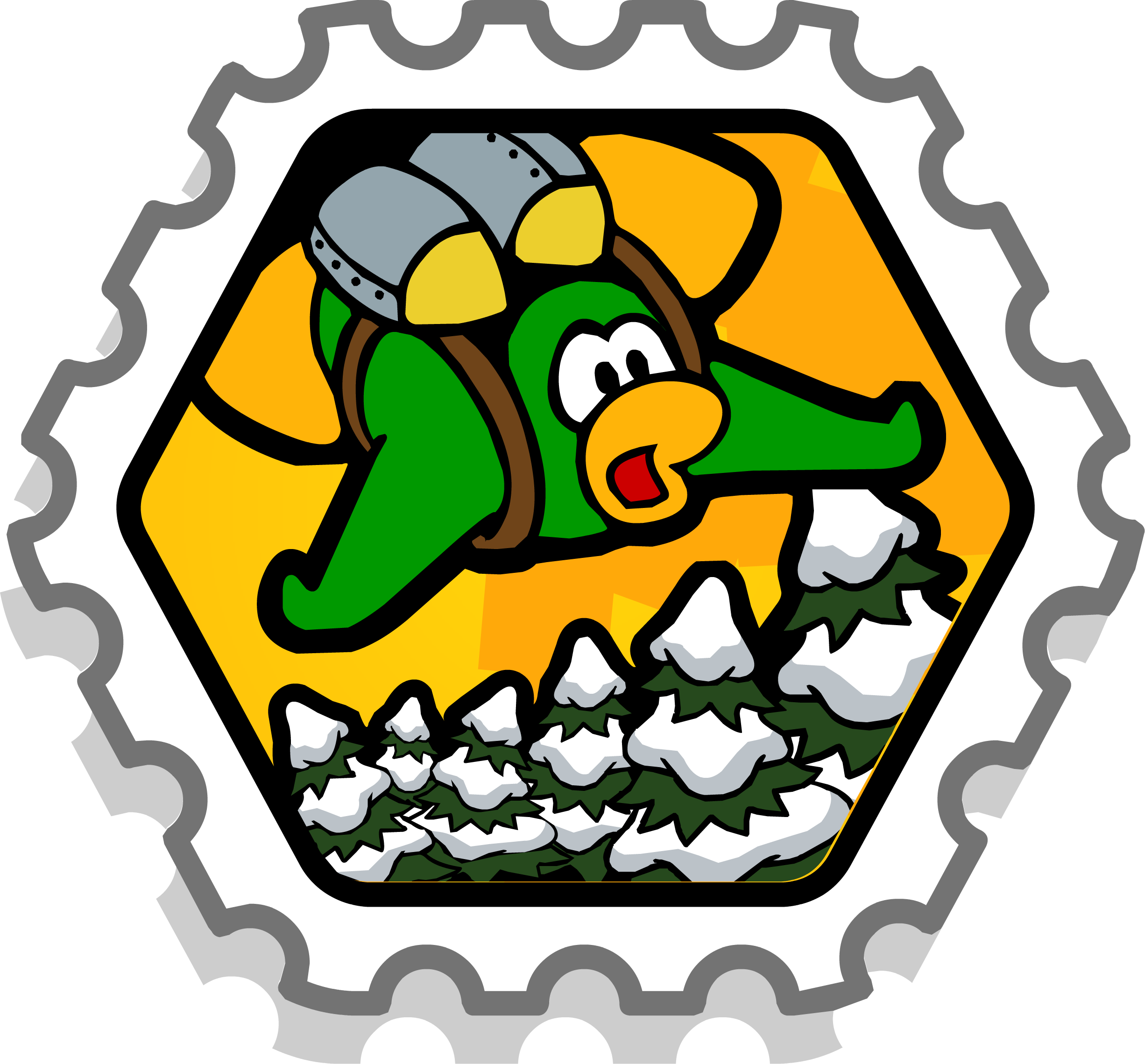 Crash club penguin wiki. Missions clipart official stamp