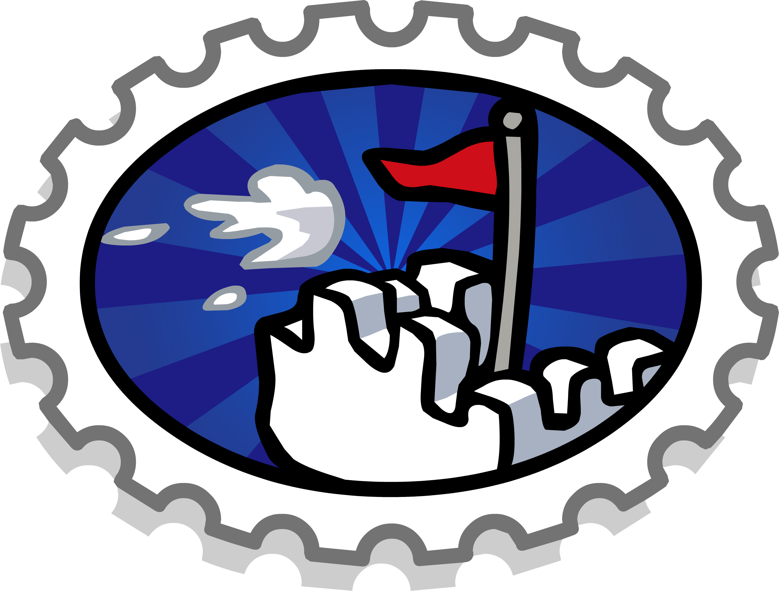 Missions clipart official stamp. Fort battle club penguin
