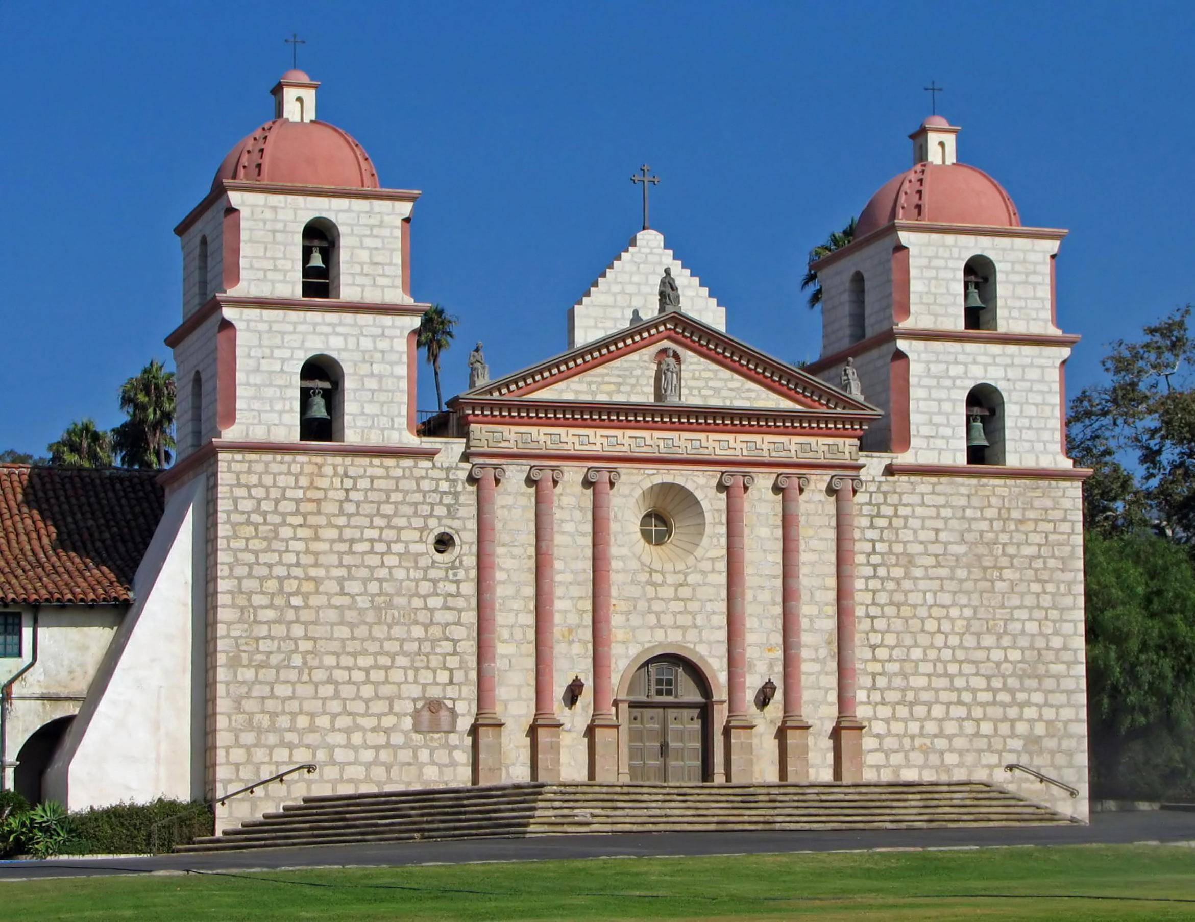 Santa barbara wikipedia . Mission clipart old church
