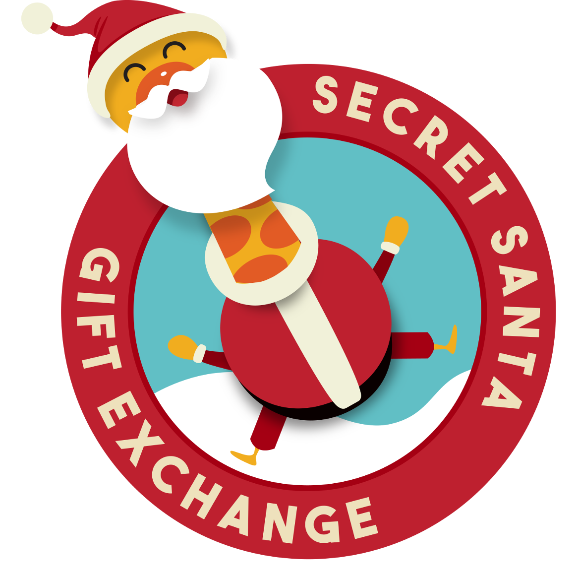 collection of santa. Missions clipart secret pal