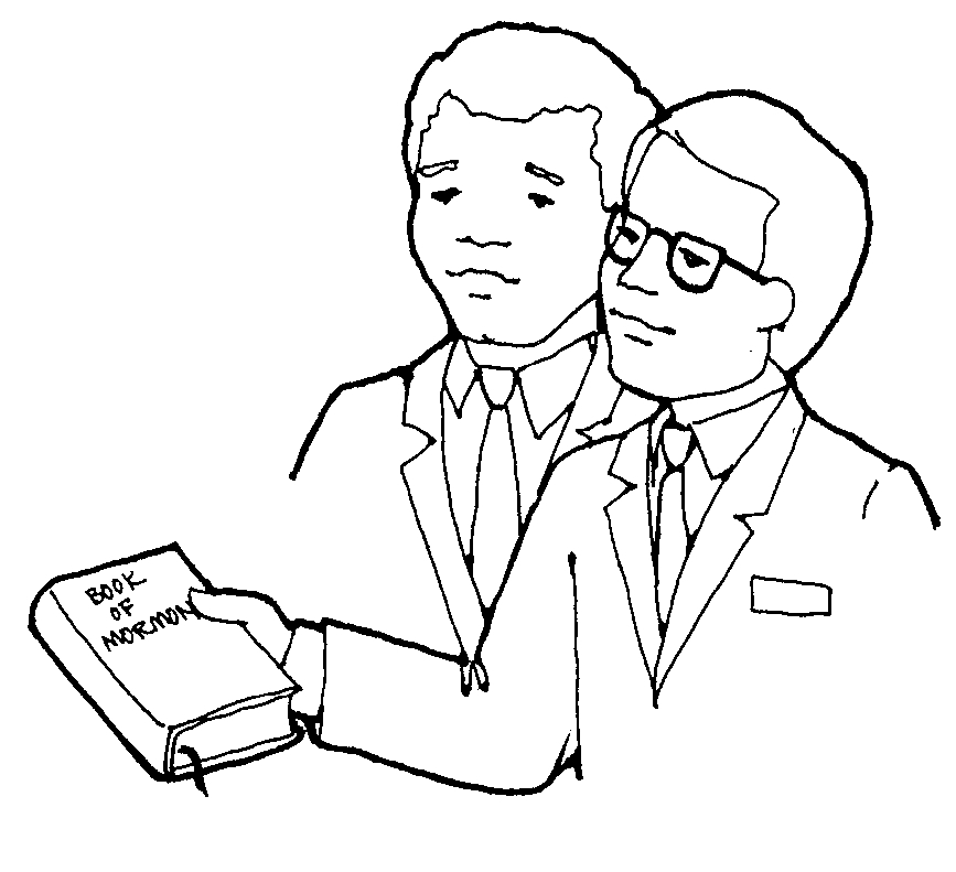Lds work . Missionary clipart