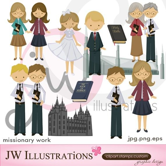 Work cute digital for. Missionary clipart