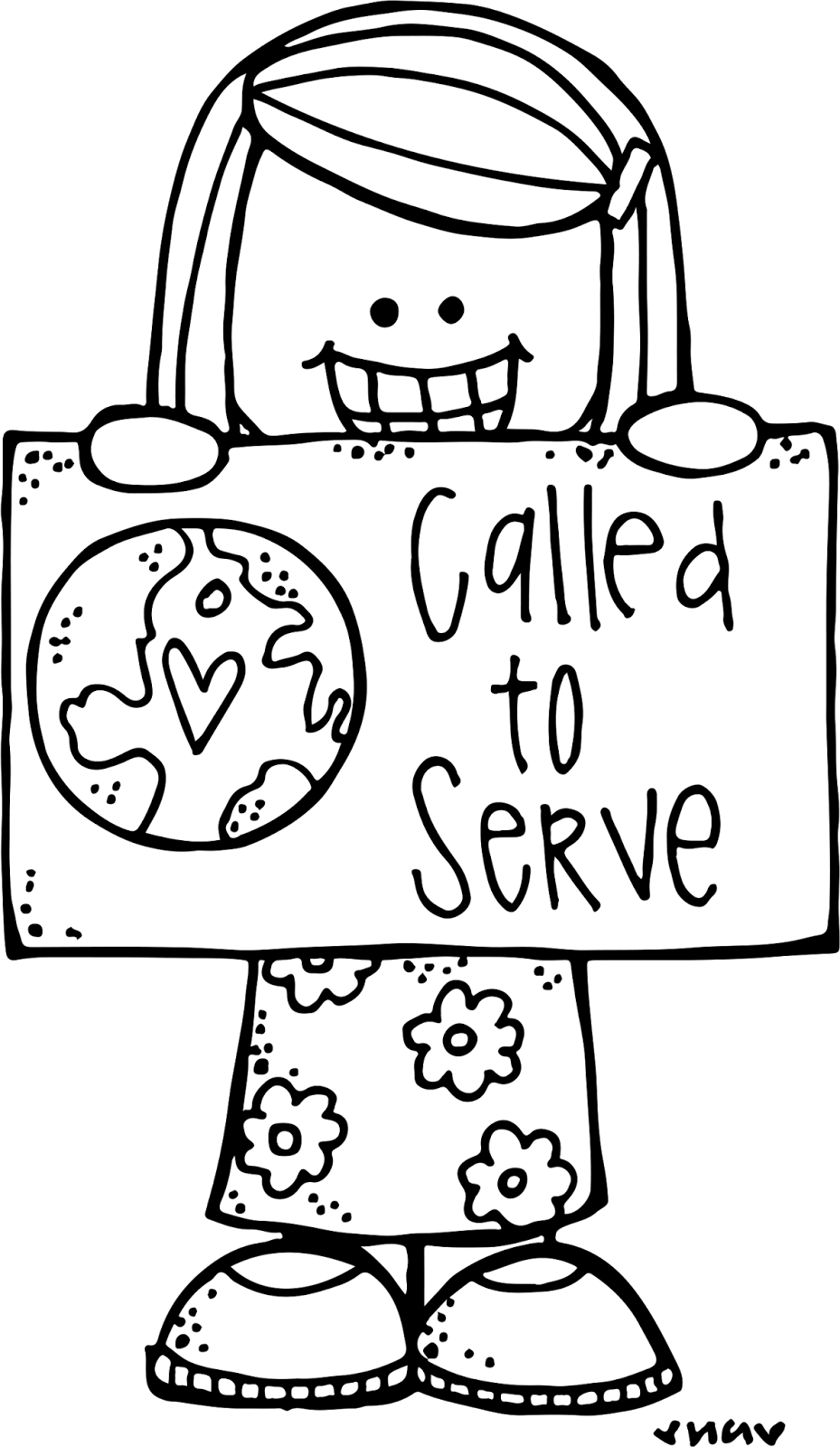 Missionary clipart called to serve. Melonheadz lds illustrating general