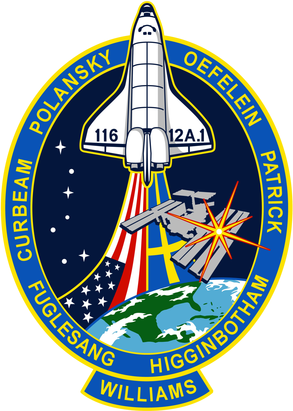 The sts patch design. Missions clipart assembly
