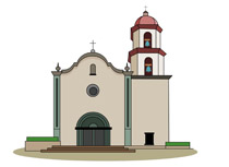 California portal . Missions clipart calif