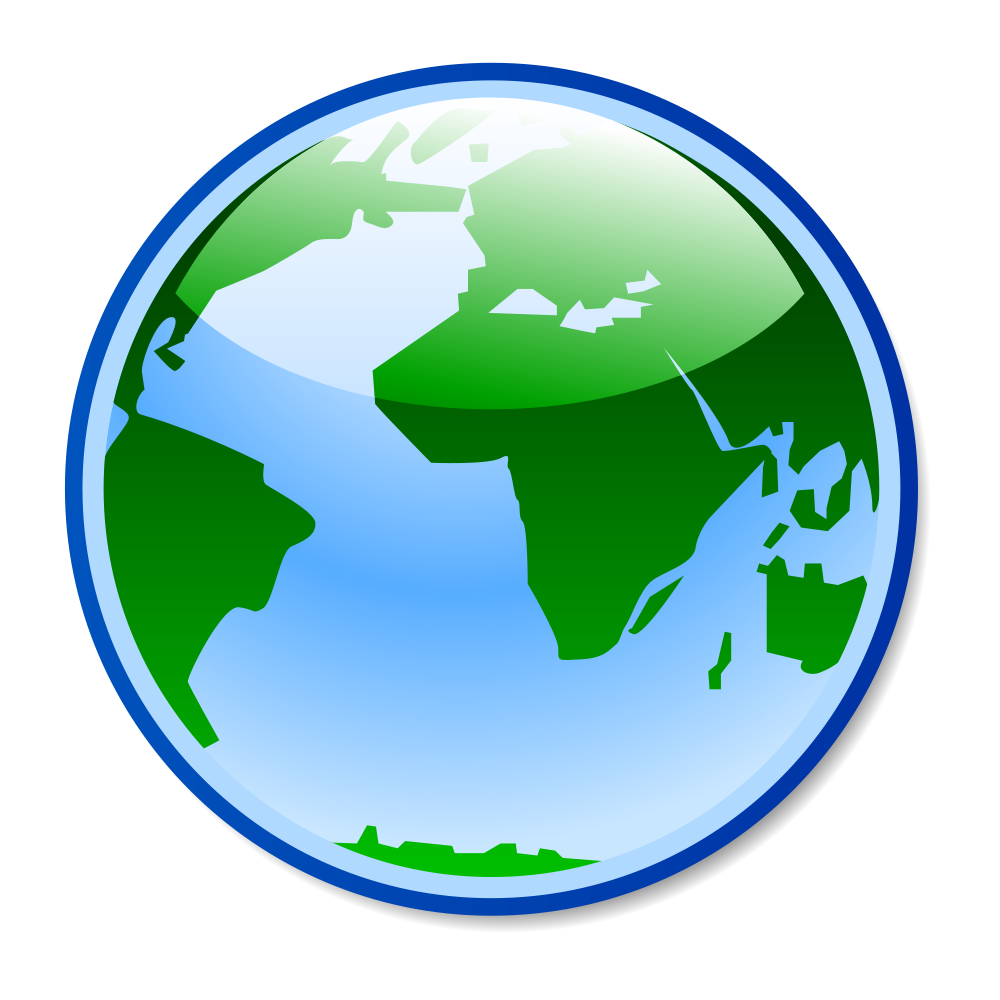Missions clipart globe. Image px gnome svg