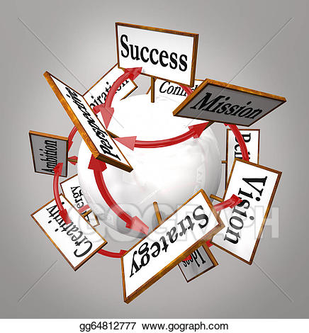 Stock illustration strategy mission. Missions clipart strategic