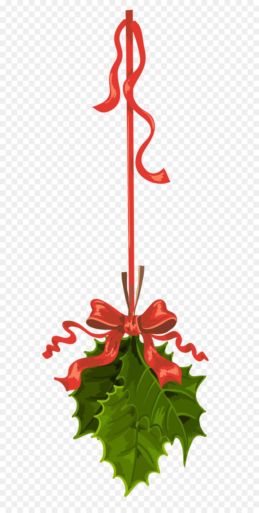 Christmas clip art transparent. Mistletoe clipart