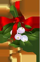 Mistletoe clipart. Free holly animations