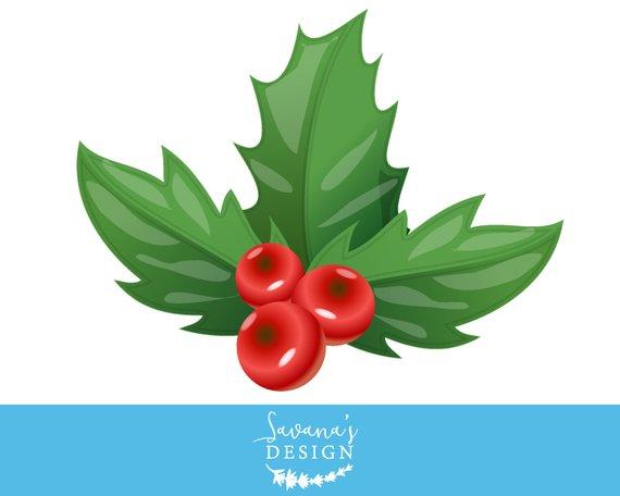 Holly . Mistletoe clipart clip art