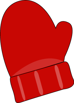 Clip art images red. Mitten clipart