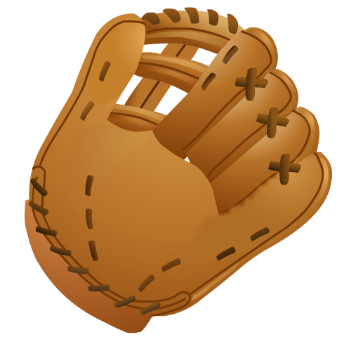 Free glove cut out. Mittens clipart baseball