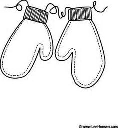 Mitten black and white. Mittens clipart coloring page