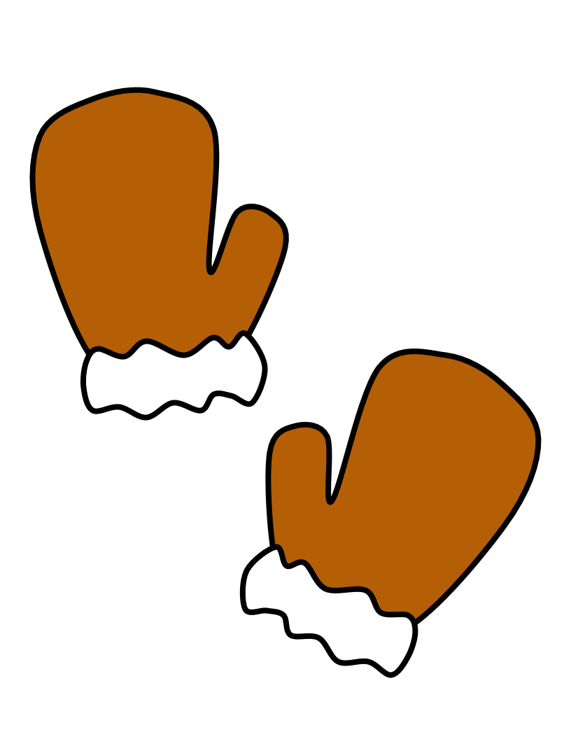 Clipartshare . Mittens clipart brown