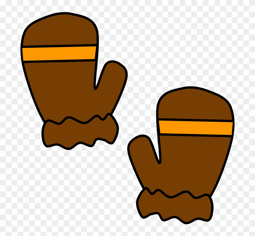 Mittens clipart brown. Fur cuff stripe and