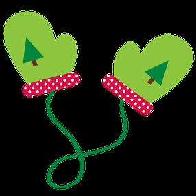Christmas clip art . Mittens clipart preschool