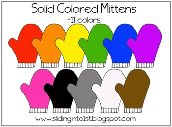 Mittens clipart colored. Mitten worksheets teaching resources