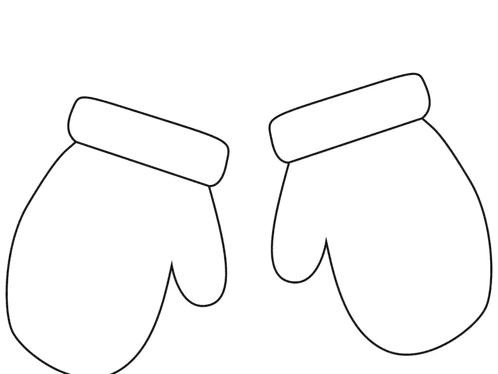 Mittens clipart simple. Mitten inspirationa drawings free