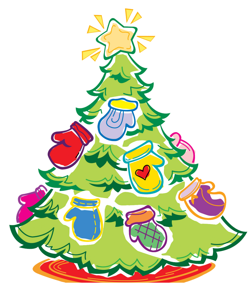 Mitten tree union church. Mittens clipart simple