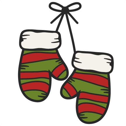 Large hanging clip art. Mittens clipart elf