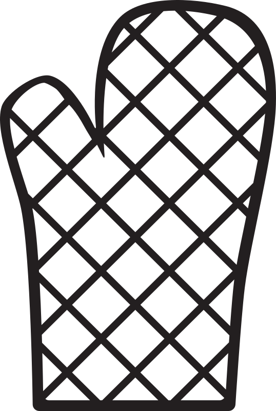 Kitchen icon oven medium. Mittens clipart mitt
