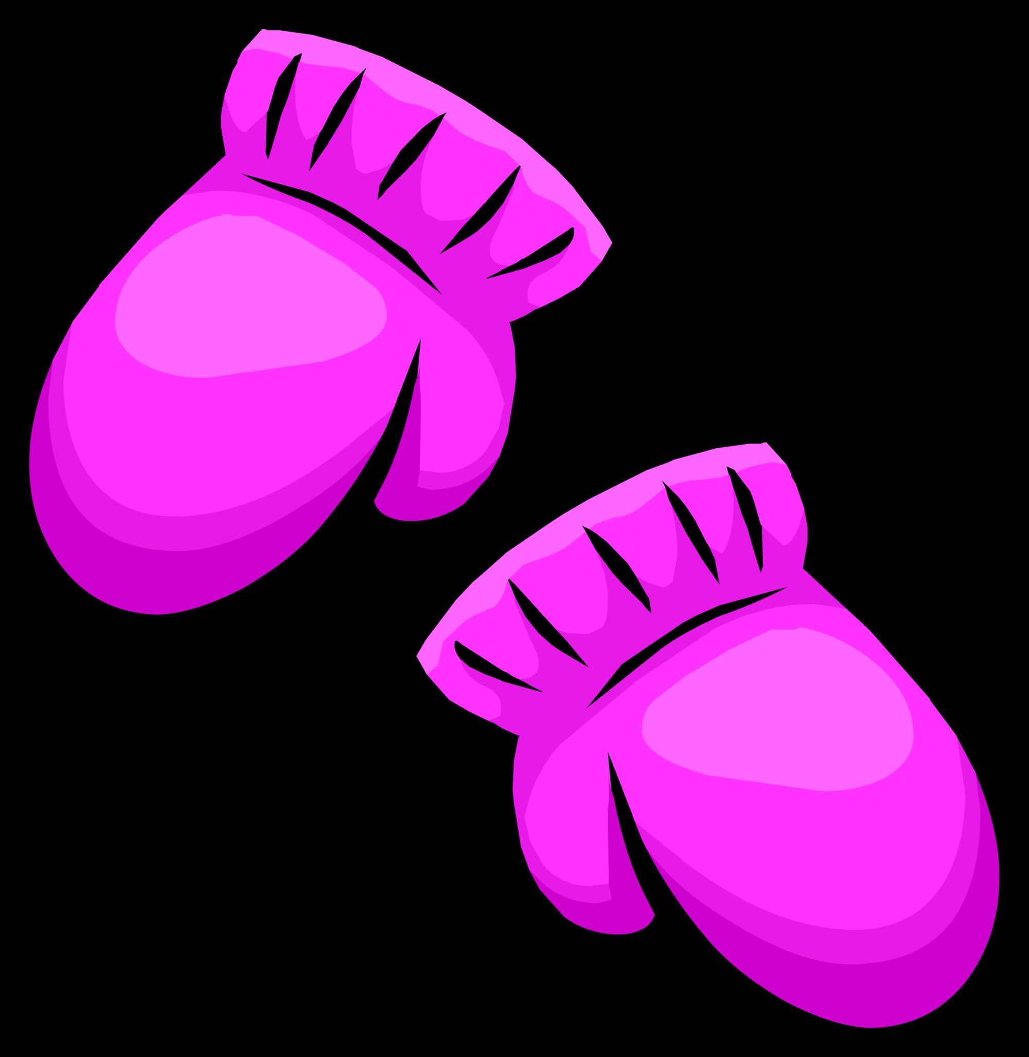 Mittens clipart purple. Pink club penguin wiki