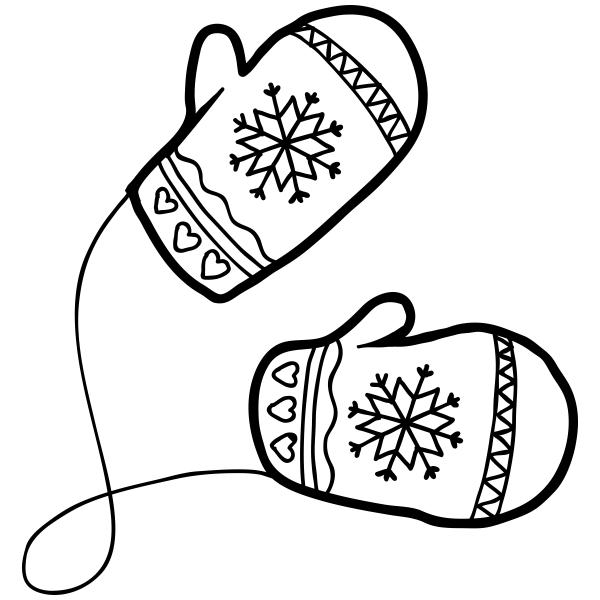 Mittens clipart shoe. Winter craft stamp