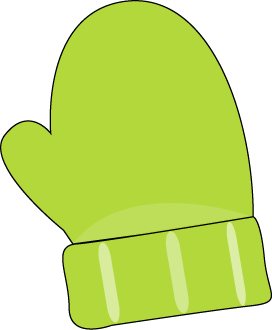 Green mitten clip art. Mittens clipart single