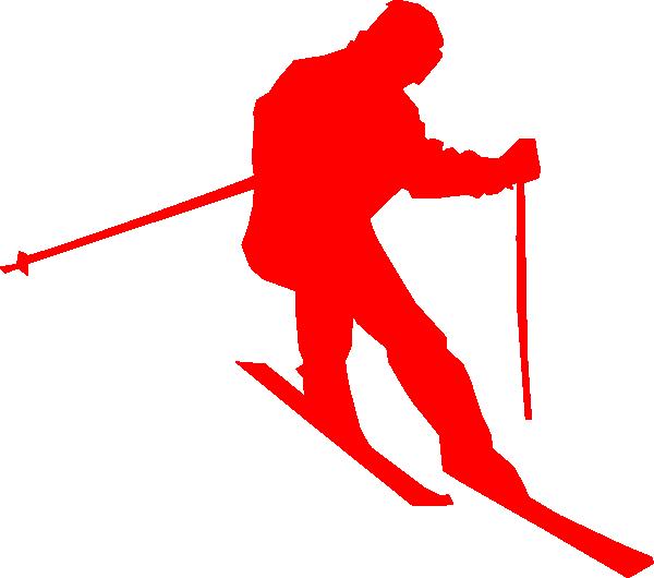 skiing clipart santa skiing