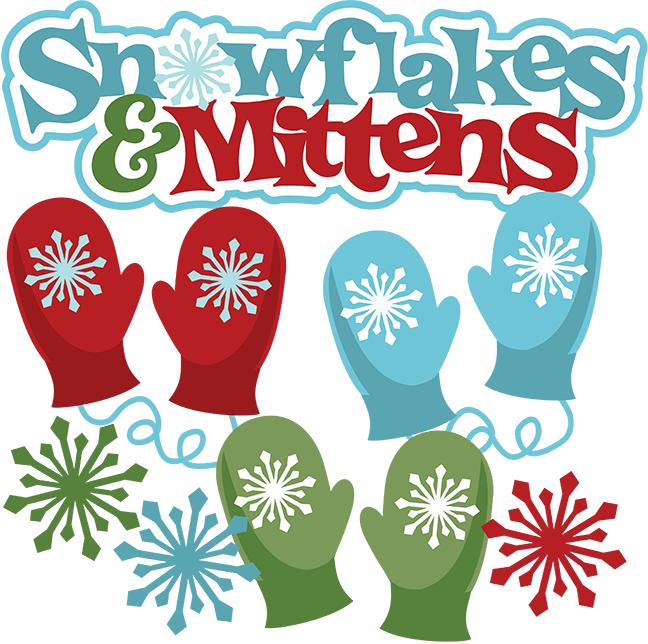 Mittens clipart large. Snowflakes svg scrapbook collection
