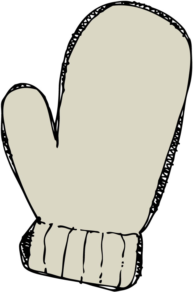 Mittens clipart template. Busy bees mitten unit