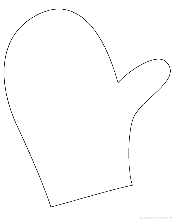 Mittens clipart traceable. Free mitten outline download