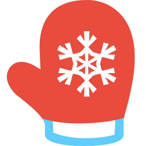 Red christmas . Mittens clipart
