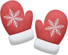 Mittens clipart. Winter red clip art