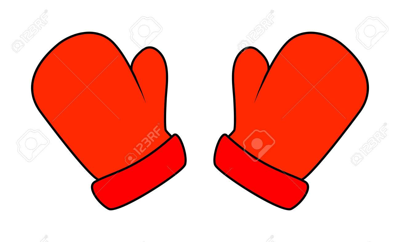 Christmas gloves design icon. Mittens clipart cartoon
